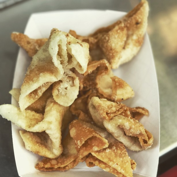 Cream cheese wontons from Que Viet's new booth.