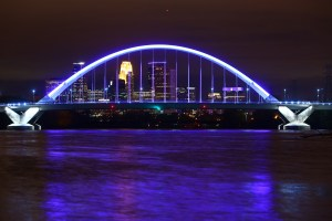 Minneapolis skyline Lowry Bridge