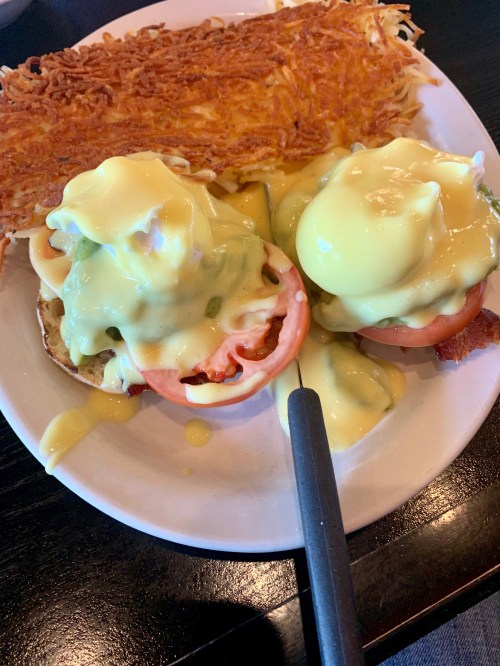 Eggs Bacon Avocado Benedict Fat Nat's Eggs