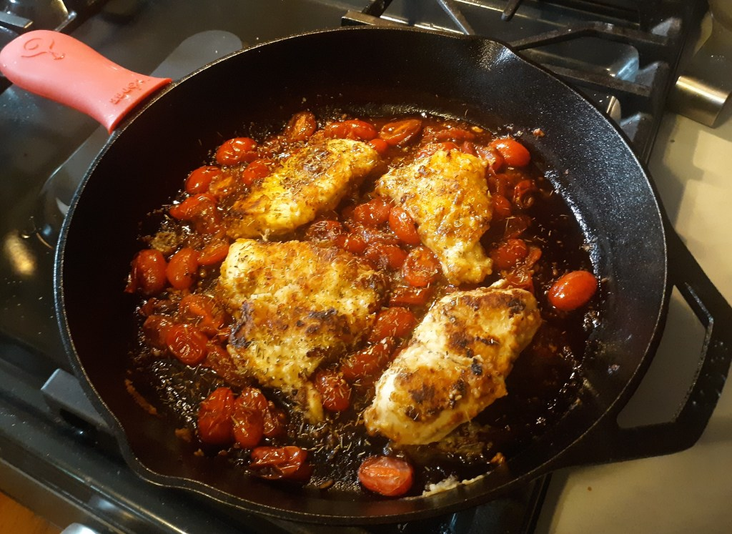 Balsamic tomato chicken