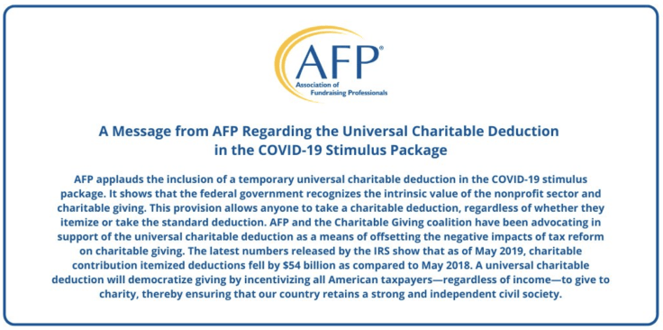 COVID-19 Stimulus Plan and Nonprofits