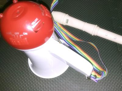 リコーダーと拡声器