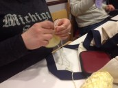 Crocheting a preemie hat