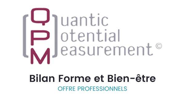Bilan QPM Forme et Bien-être pour les professionnels