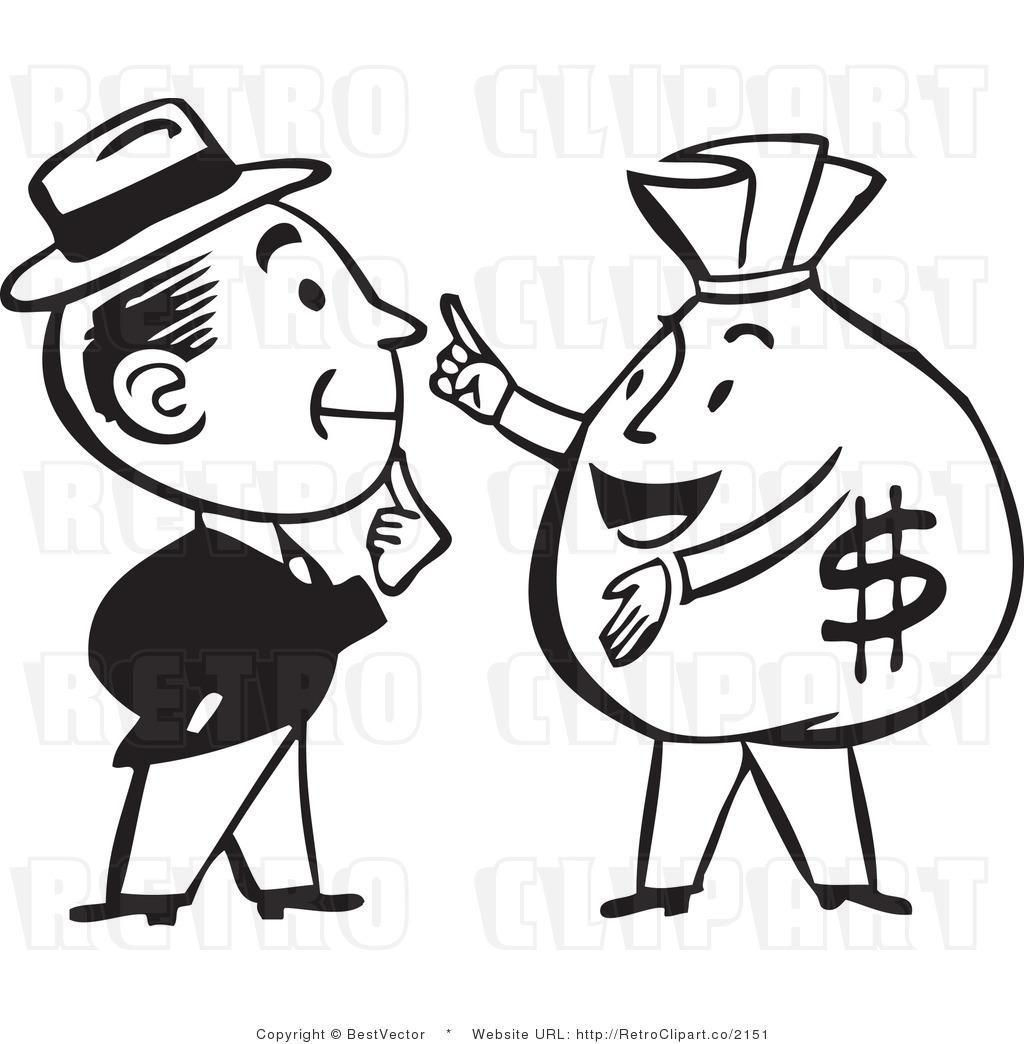 Man Talking To Money Bag