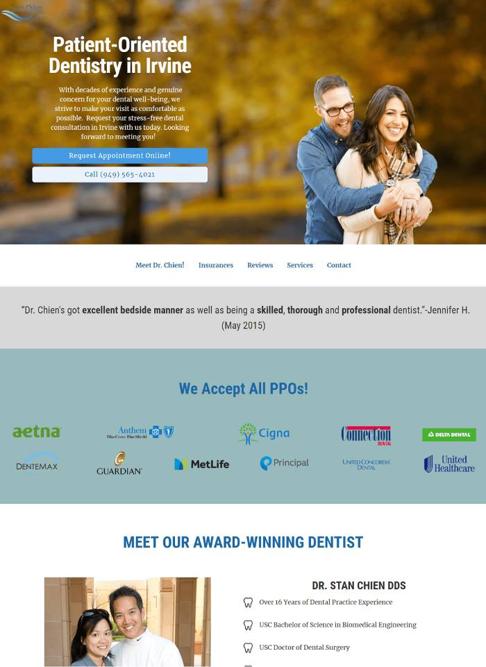 YoYoFuMedia Dental Marketing Web Design
