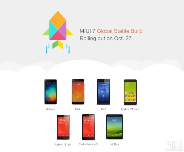 Xiaomi MIUI 7 Stable