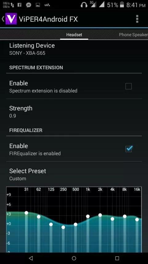 Viper4Android FX, applicazione per Android