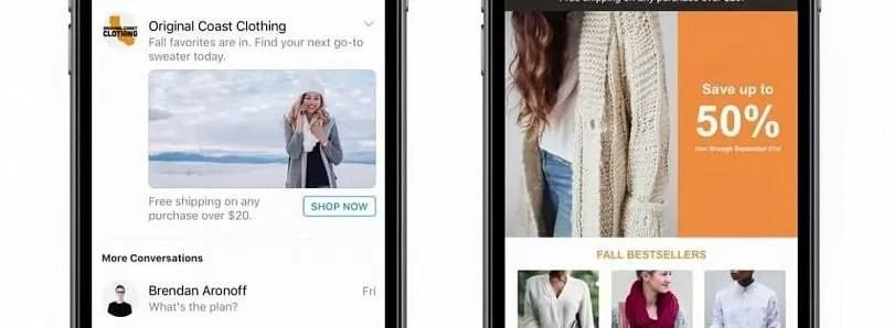 pubblicità facebook messanger