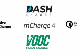 dash charge vooc quick charge mcharge adaptive fast charge