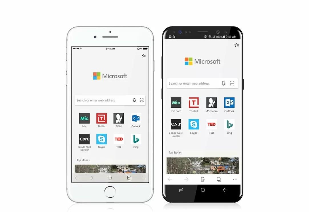 Microsoft Edge si aggiorna anche su Android