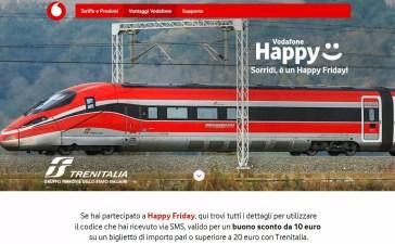 vodafone happy friday trenitalia banner