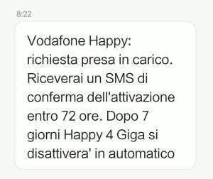 vodafone happy friday happy 4 giga sms