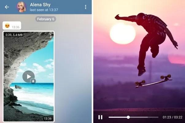 Telegram si aggiorna e aggiunge streaming video, modalità notte e widget