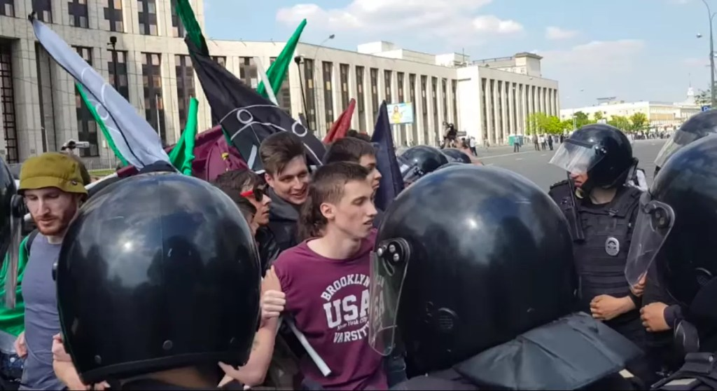 Russia proteste con ban Telegram