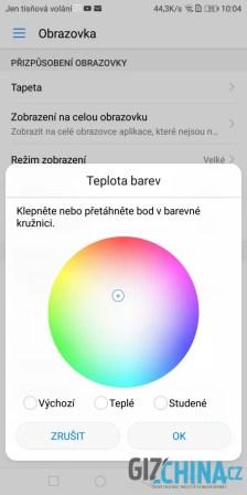 Teplotu barev si můžete zcela přizpůsobit