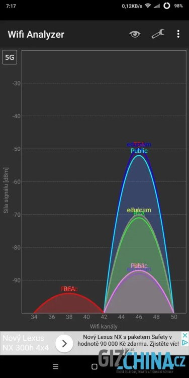 Wi-Fi funguje spolehlivě v obou pásmech