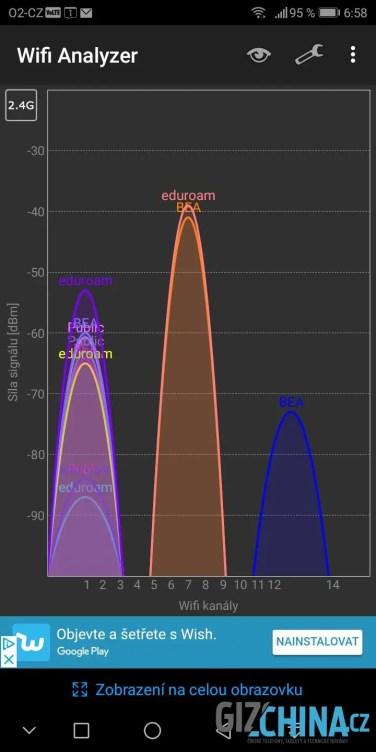 Wi-fi na 2,4 GHz funguje výborně ...