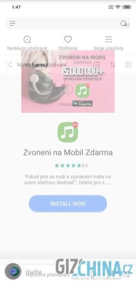 ukázka reklamy v aplikaci 3