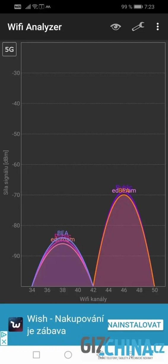 Wi-Fi pracuje spolehlivě v obou pásmech