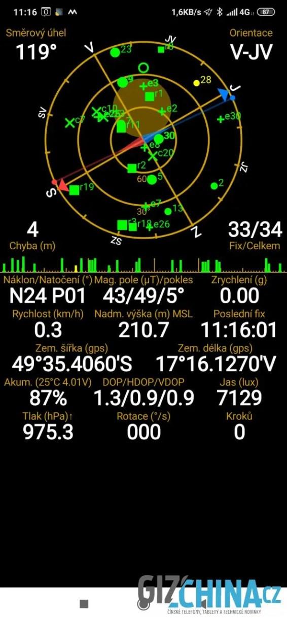 Informace o GPS
