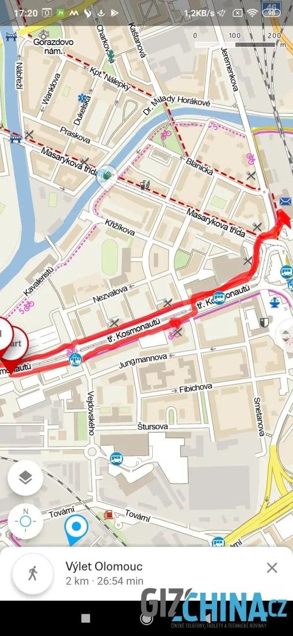 Záznam GPS polohy