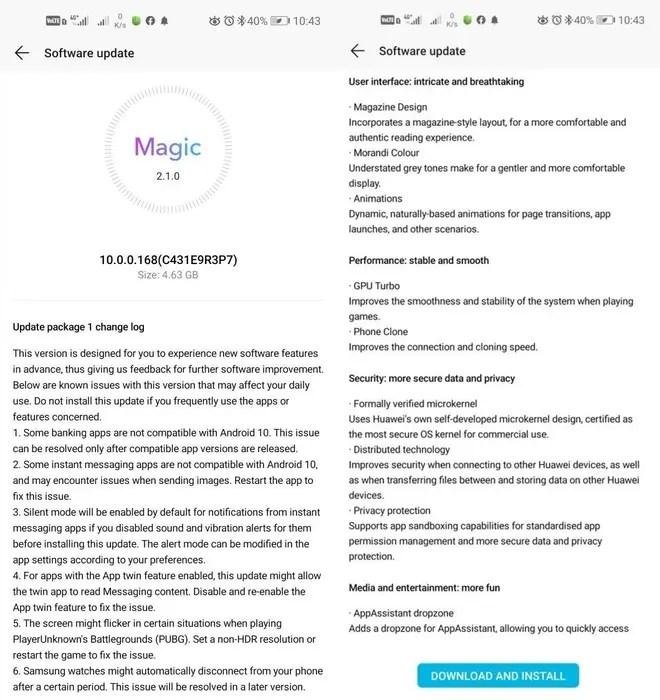 HONOR-20-Magic-UI-3.0-Android-10-update