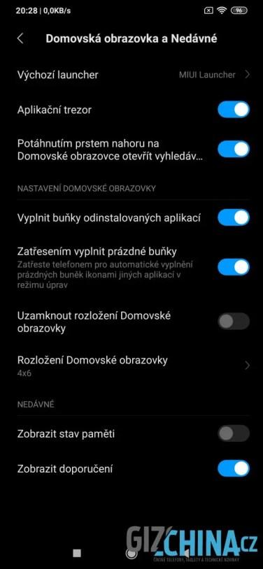 Nastavení obrazovky
