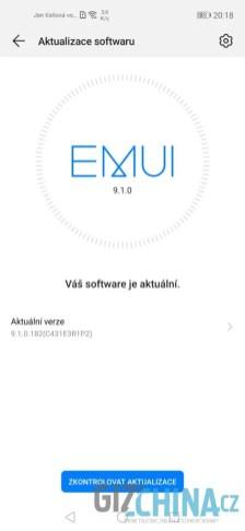 Aktualizace na EMUI 10 bohužel nepřišla