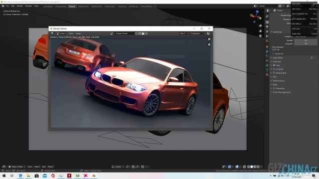 Blender BMW CPU render