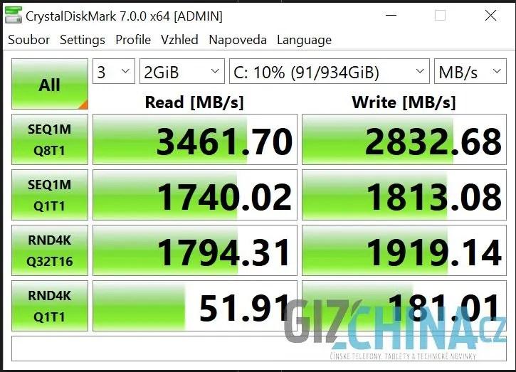 Na rychlost SSD si stěžovat určitě nebudete