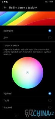 Možnosti úpravy barev