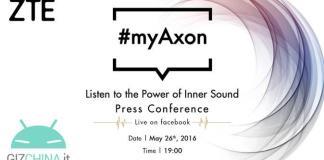 ZTE Axon 7 evento live