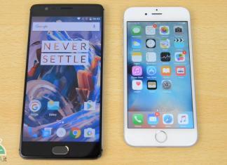 OnePlus 3 iPhone 6s confronto sensore impronte digitali