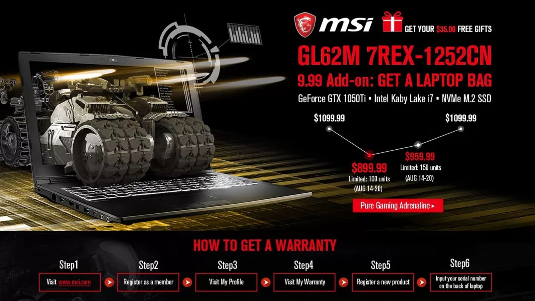 GearBest MSI computer gaming
