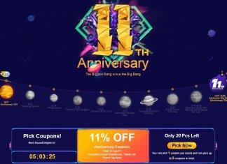 banggood 11th anniversary banner