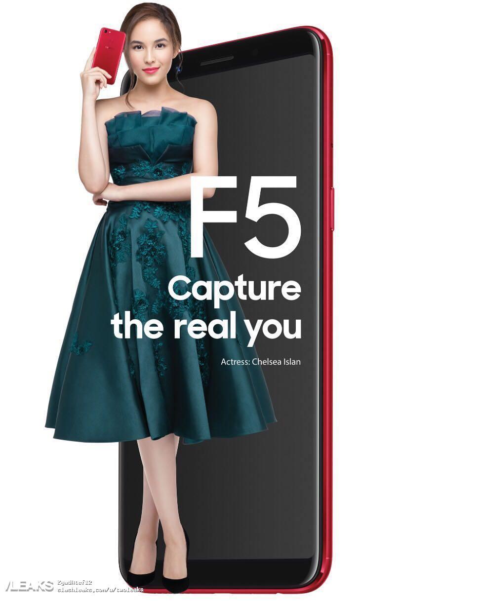 Oppo F5 in arrivo con doppia camera frontale e display 18:9