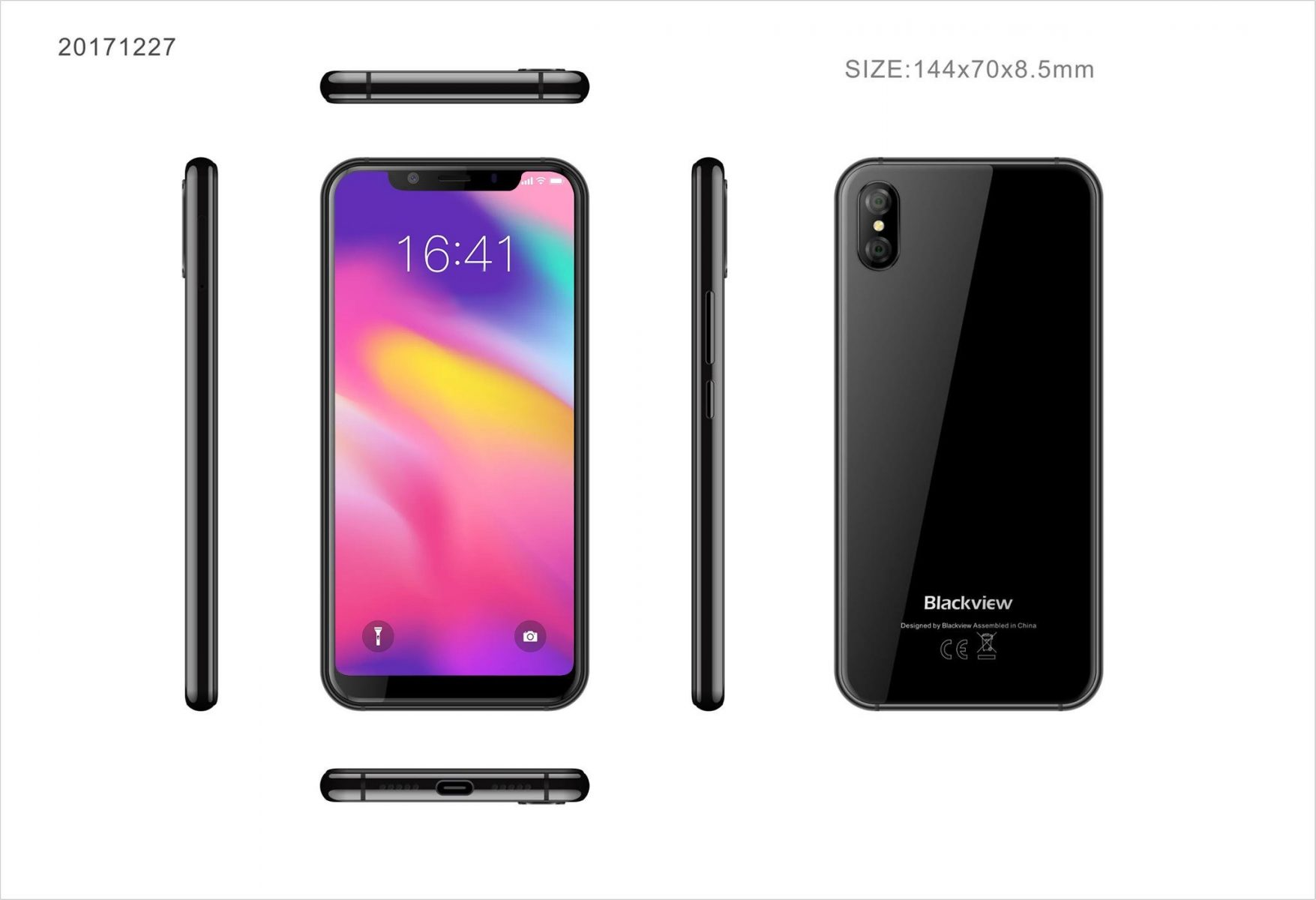 Blackview svela uno smartphone Android con l'aspetto di iPhone X