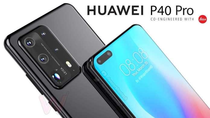 huawei p40  Huawei P40 Lite e P40 Pro têm detalhes de câmera vazados Huawei p40 pro video render