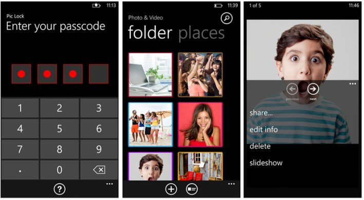 Pic Lock Ultimate Is the best security app  for Windows Phone