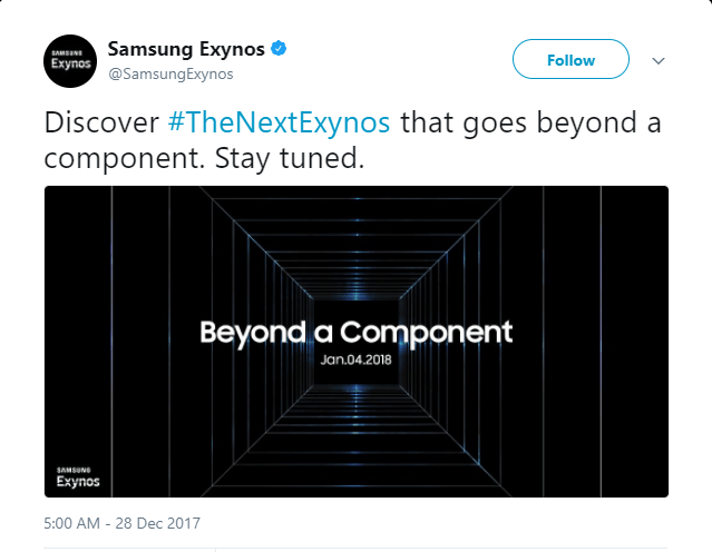 Samsung's Next Exynos Chipset To Be Revealed On January 4th