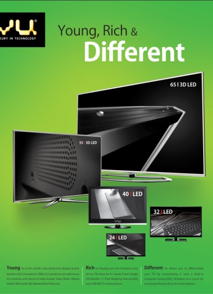 "Vu is available in various display sizes i.e 84 "",65"",55"",40"",32"",24"""