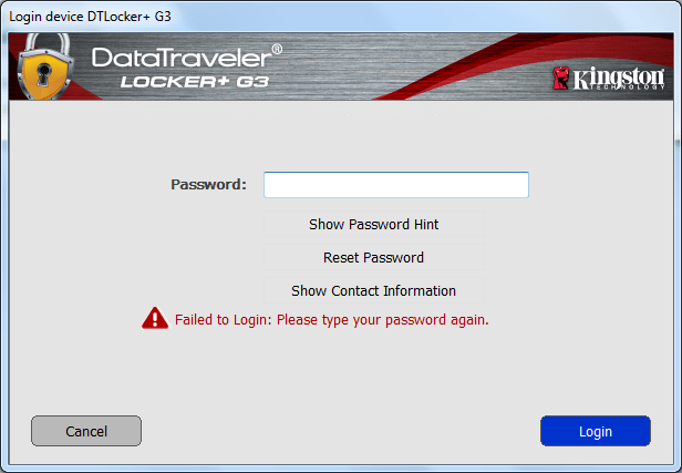 DataTraveler Locker+ G3