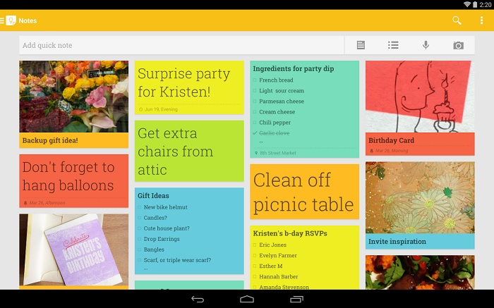 Google Keep For Android Updated, Brings Searchable Images, List Settings, Trash And More