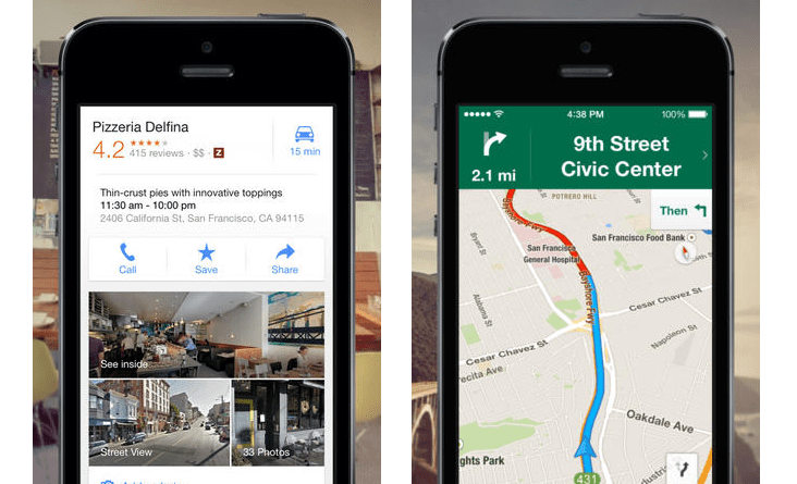 Google Maps For iOS Updated With Mapped Search Results, Appointments And More
