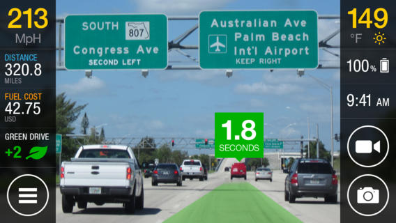 iOnroad augmented driving is the best Augmented Reality app for iOS and Android