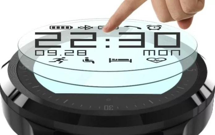 F68, une smartwatch circulaire pour les sportifs