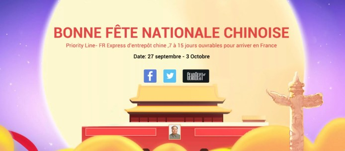 Fête Nationale Chinoise : Grosses promo chez Gearbest
