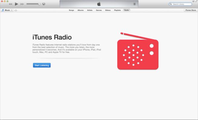 iTunes 11.1 beta with iRadio