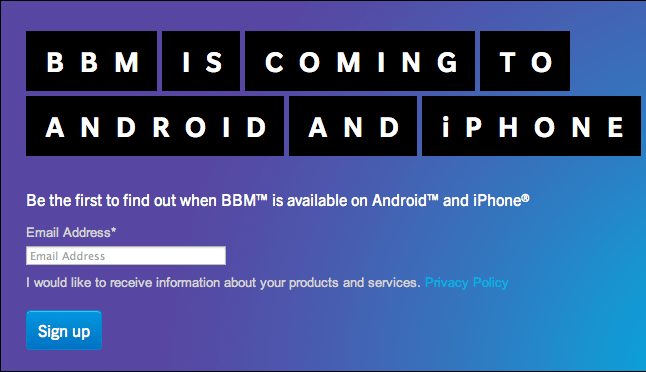 bbm for android and ios iphone